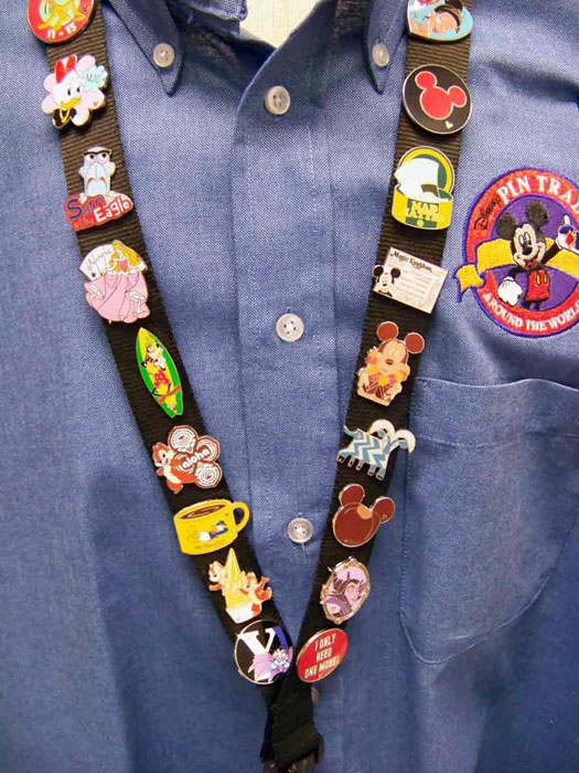 Disney World Cast Members Wear Flair