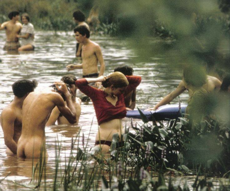 Bathing in a Lake