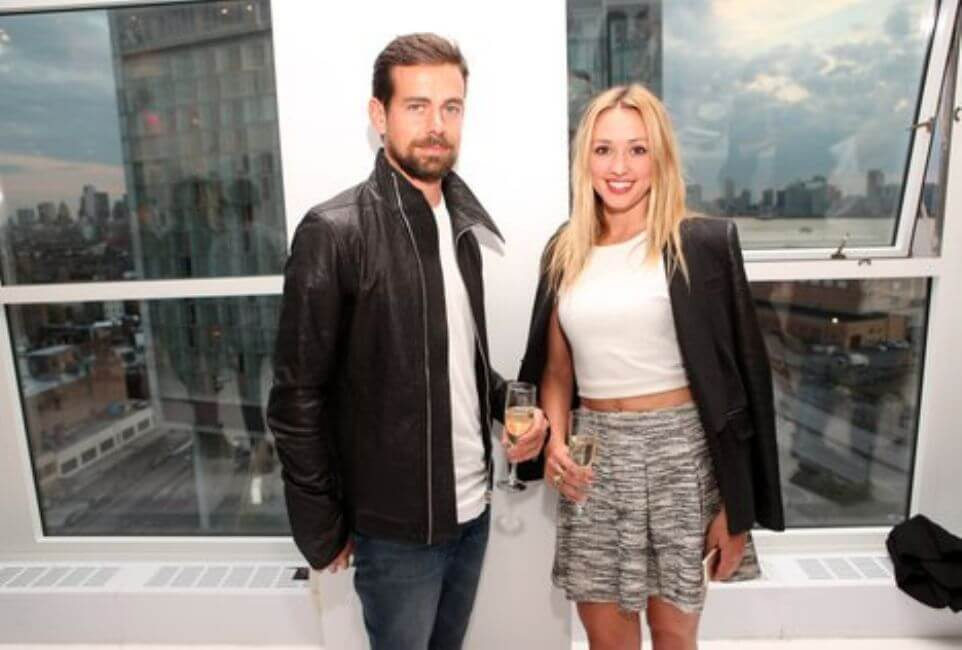 Jack Dorsey and Kate Greer