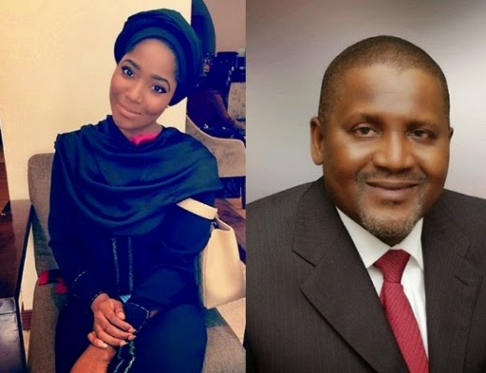 Aliko Dangote and Sylvia Nduka