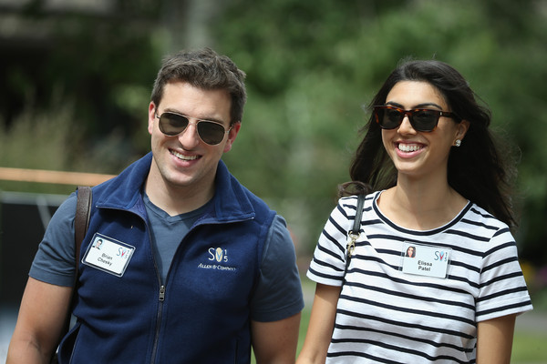 Brian Chesky and Elissa Patel