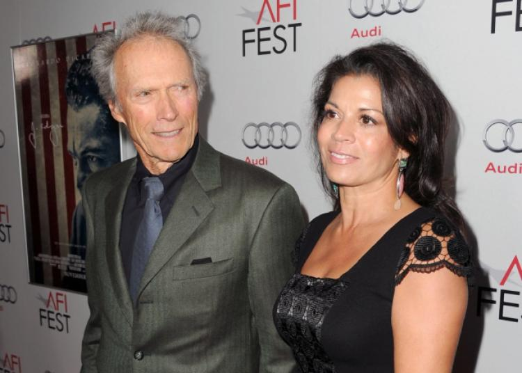 Clint Eastwood and Dina Fisher