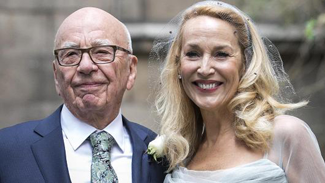 Rupert Murdoch and Jerry Hall