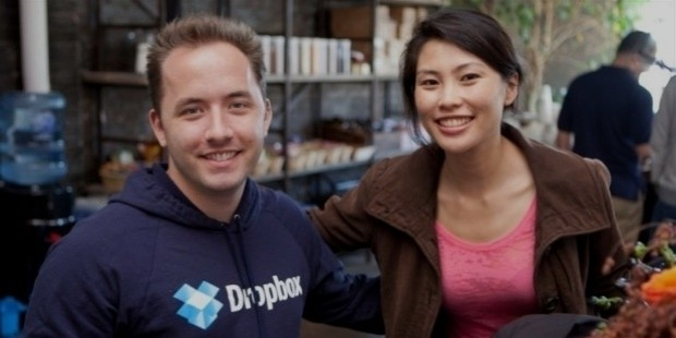 Drew Houston and CeCe Chang