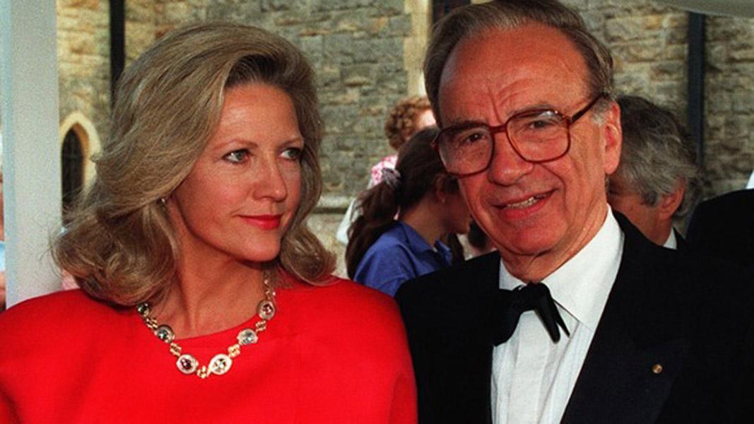 Rupert Murdoch and Anna Mann Murdoch
