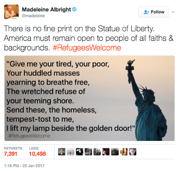 No Fine Print On The Statue Of Liberty