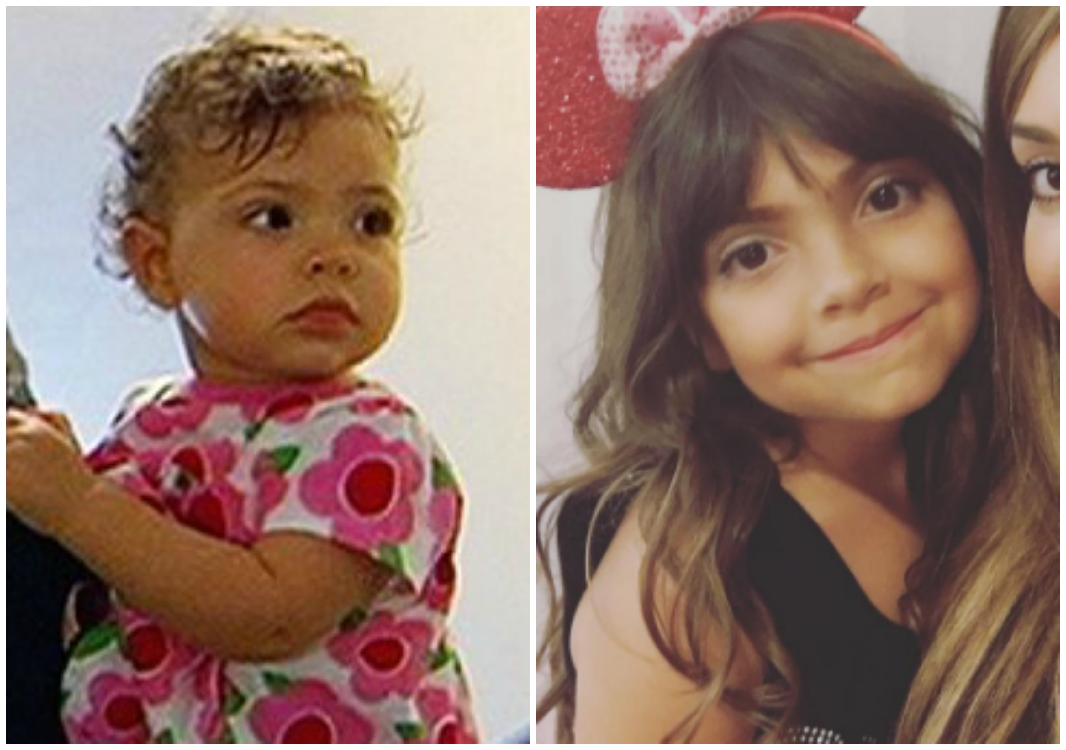 Farrah's Daughter Sophia, Then and Now