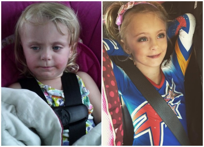 Leah's Daugther Aleeah, Then and Now