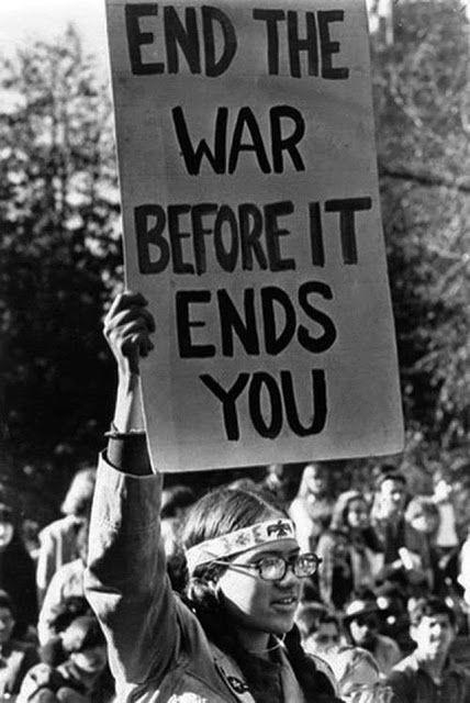 Protester Speaks out Against Vietnam War