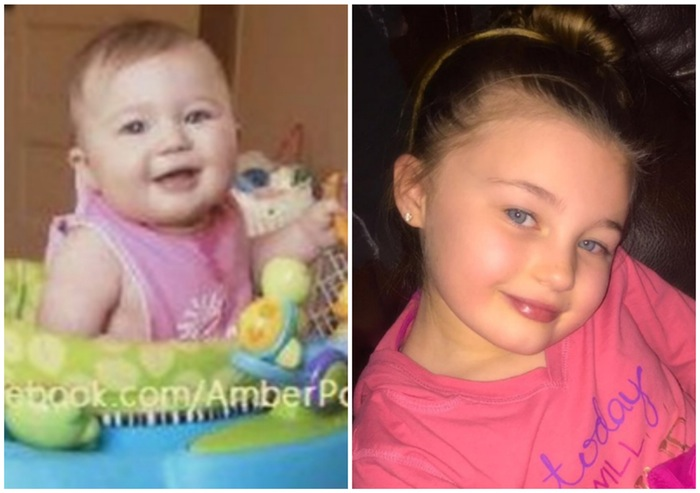 Amber's Daughter Leah, Then and Now