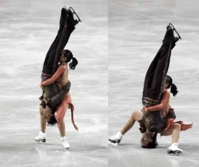 Quand est-ce que le patinage sur glace est devenu de la lutte professionnelle?