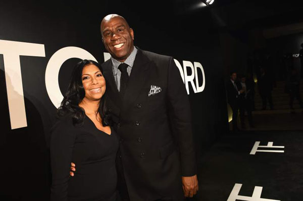Magic Johnson and Earlitha Kelly