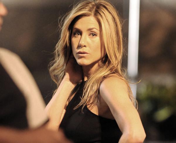 Jennifer Aniston filming in New York City