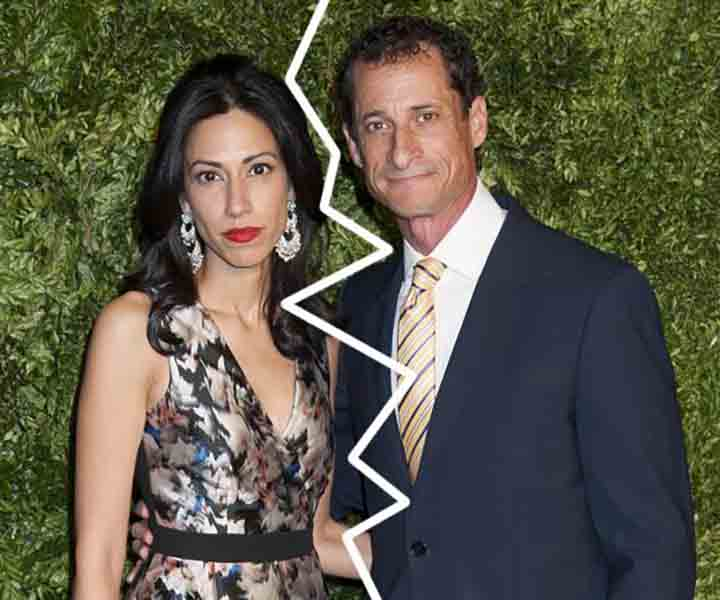 Weiner Splits With His Wife
