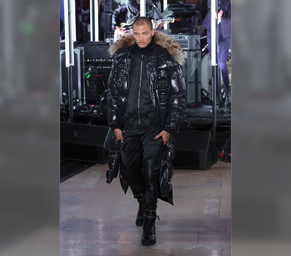 Meeks Made His Fashion Week Debut Walking with Philipp Plein