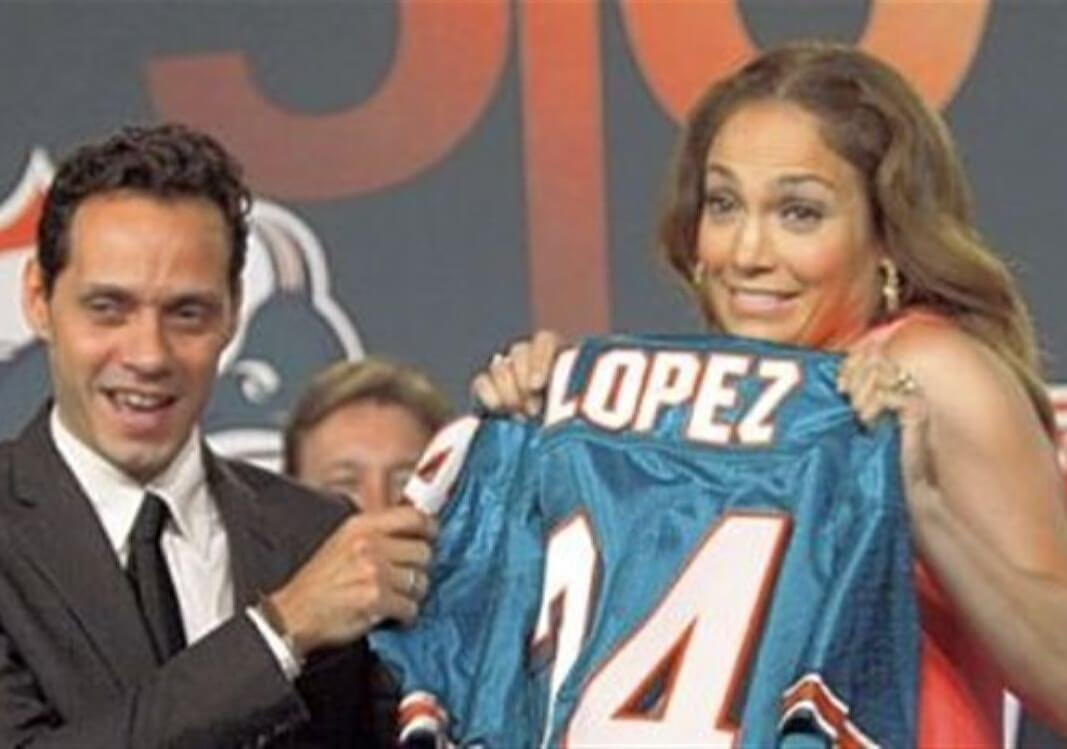 Marc Anthony and Jennifer Lopez – Miami Dolphins