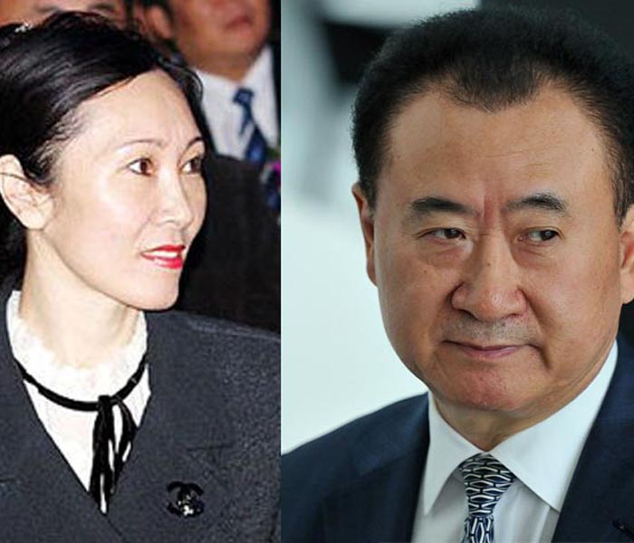 Wang Jianlin and Lin Ning