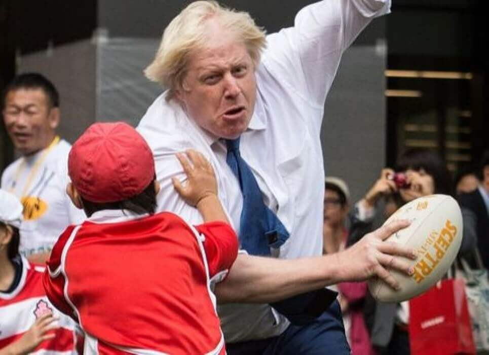Boris the Bull Gets Carried Away in a Game of Rugby