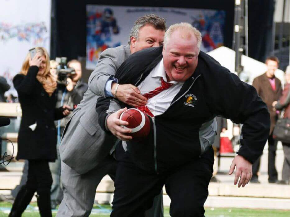 Rob Goes Juggernaut at a CFL Grey Cup Event