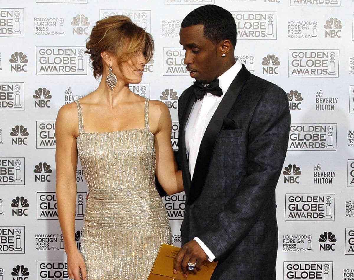 Diddy Is Looking At Justin's Old Lady!