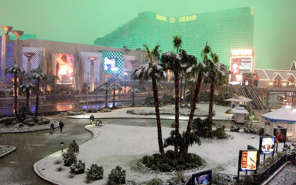The Rare Snowstorm In Vegas