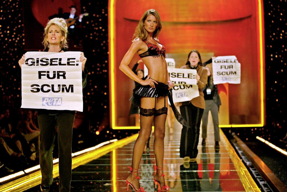 Gisele Was Unfazed When PETA Ambushed Her On The Victoria's Secret Runway