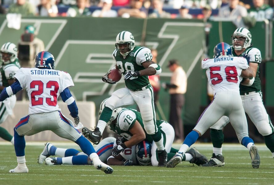 Curtis Martin lets the lord power him before games