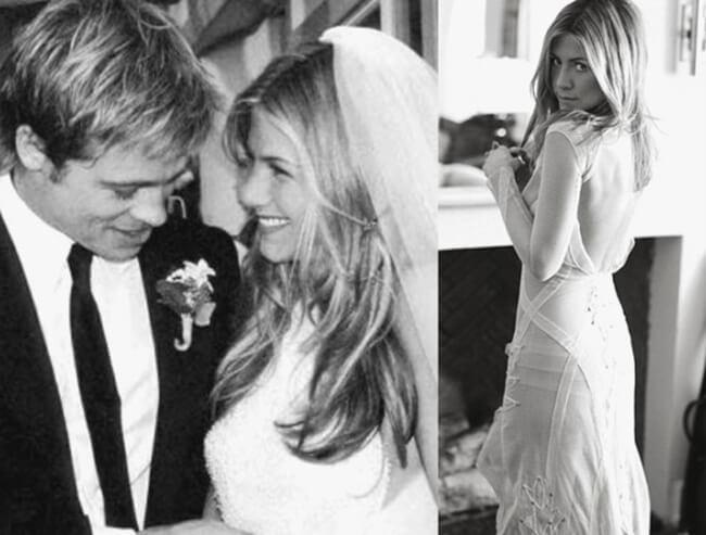 Jennifer Aniston And Brad Pitt Wedding Dress Beautiful jennifer