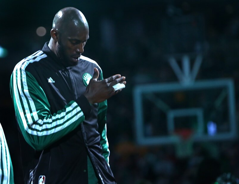 Kevin Garnett had one of the more intense pre-game rituals in sports