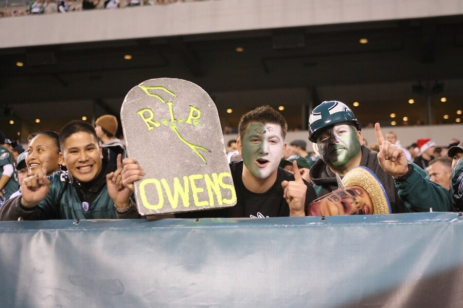 Terrell Owens didn't make a lot of friends as an Eagle