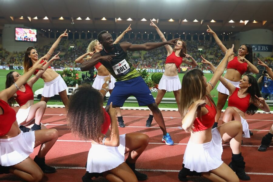 Usain Bolt liked to focus on women before races