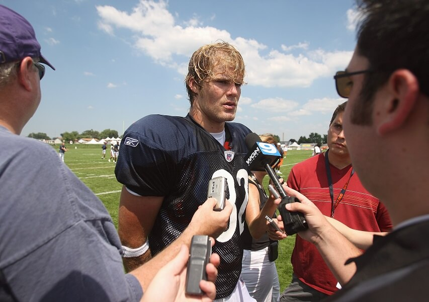 Greg Olsen was originally drafted by the Bears, who thought he was a bust