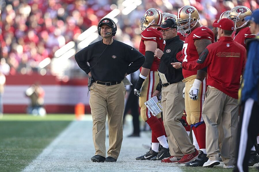 Jim Harbaugh was fired by the 49ers despite bringing the franchise back to glory