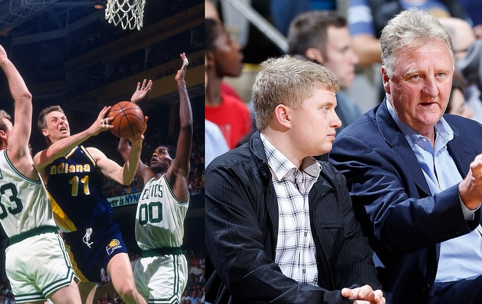 Larry Bird is old but still competitive since retiring