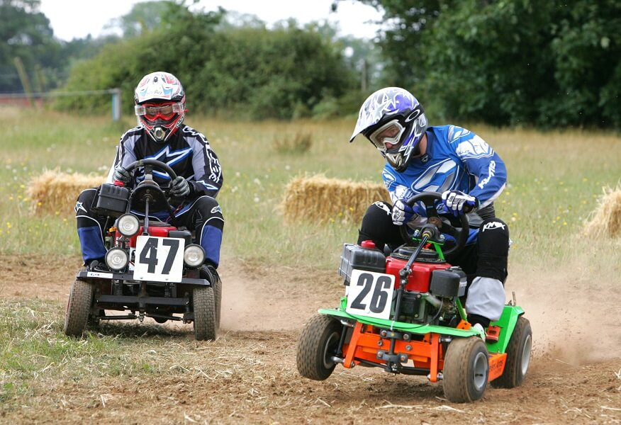 Lawnmower Racing takes cutting grass to new extremes!