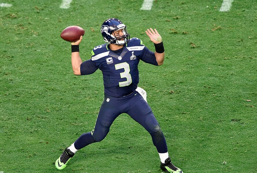 Russell Wilson threw an interception to lose a Super Bowl