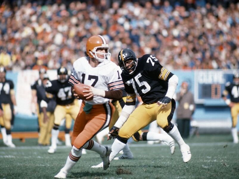 "Joe Green was four Super Bowls with the Steelers as a member of the ""Steel Curtain"""