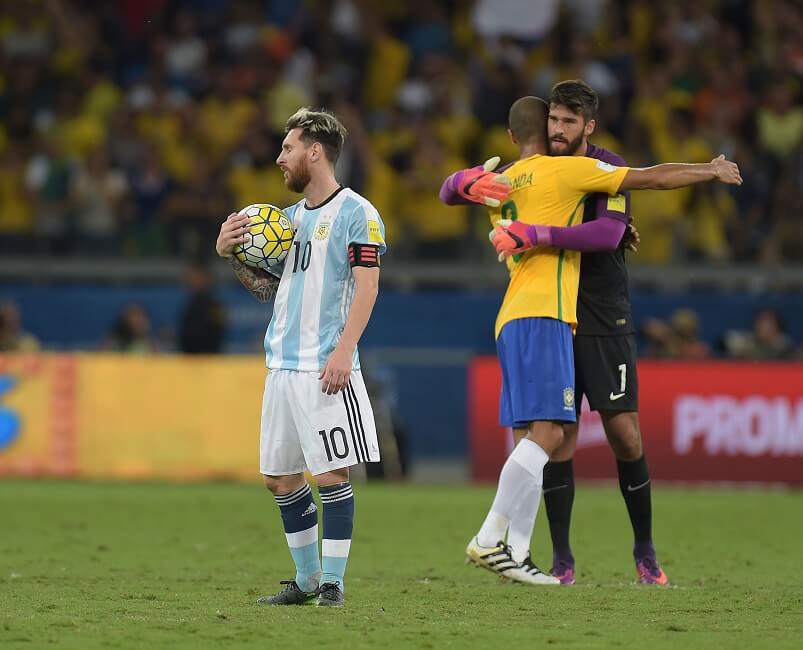 Argentina and Brazil face off in the World Cup