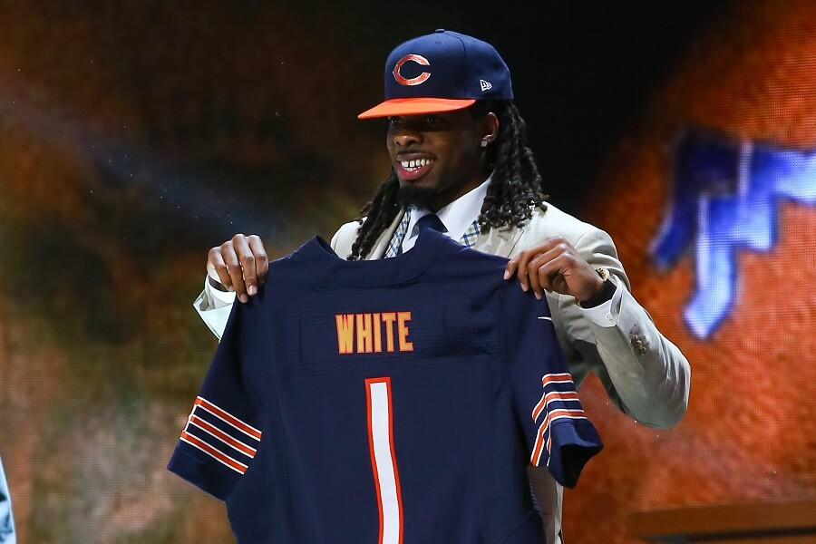 Kevin White being drafted by the Chicago Bears