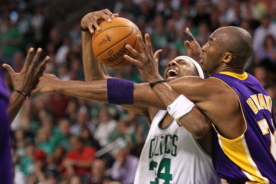 The Lakers play the Celtics in the NBA Finals