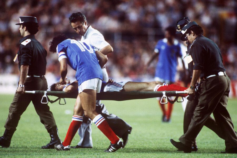 stretchered off the world cup pitch.jpg