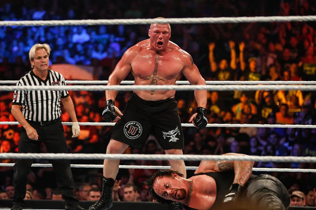Lesnar Beats Undertaker