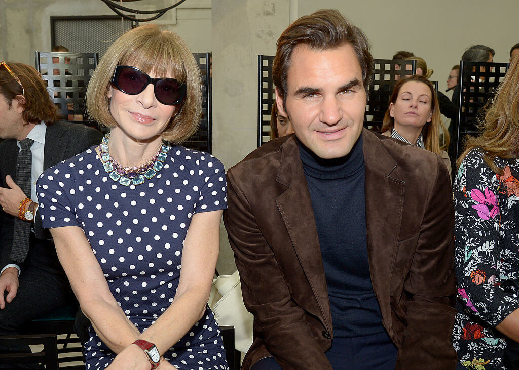 Roger Federer & Anna Wintour Spend Time Together On The Court & On The Runway