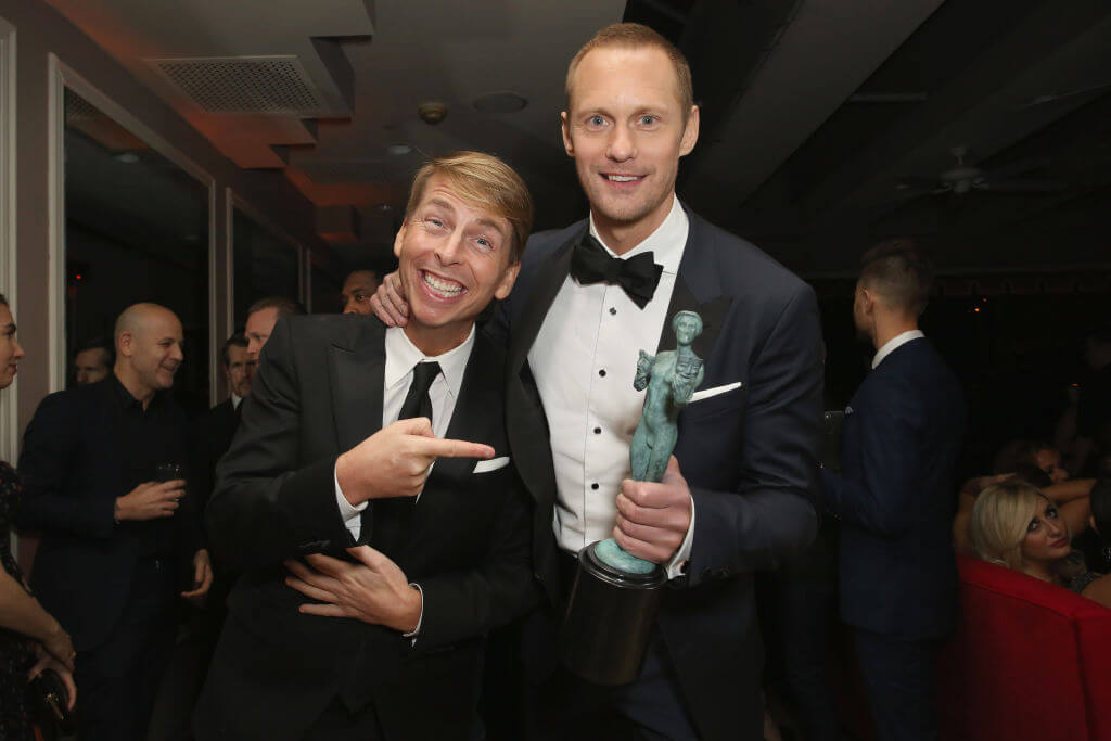 Alexander Skarsgård and Jack McBrayer Are Best Friends